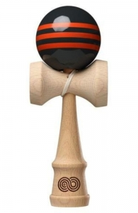 Kaizen 1.0 Kendama Triple Stripe | Charcoal  & Orange